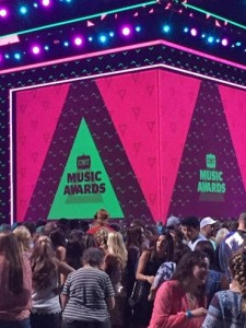 Before the CMT Awards started at Bridgestone Arena