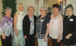 At the recent St. Anthony's Memorial Hospital Auxiliary Appreciation and Annual Meeting, elections were held to select officers for the Auxiliary Executive Committee.  The members elected and installed as the Executive Committee for the 2016-2018 term are (left to right) Bernie Niemann, Immediate Past President; Rose Boggs, Guest Amenities Chair/Gift Shop Liaison; Lois Repking, Secretary/Treasurer; Marilyn Schaefer, President; Donna Zerrusen, Vice-President; and Kathern Upchurch, Special Events Chairperson; and (not pictured) Mary Jane Koester, Membership Services Chairperson.
