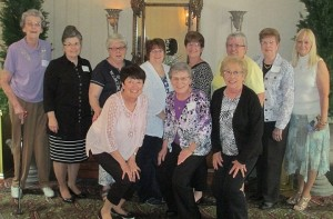 Honored at the Auxiliary Appreciation Event for reaching milestone hours of service this year were: (Front row, left to right) Donna Zerrusen (10,500 hours), Bernie Niemann (7,500 hours), and Lois Repking (8,000 hours); (Back row, left to right) Melissa Kruse (100 hours), Kathern Upchurch (1,000 hours), Marilyn Schaefer (6,500 hours), Maggie Longsworth (100 hours), Robin Westendorf (100 hours), Marilyn More (300 hours), Regina Figueroa (800 hours), and Rose Boggs (38,500 hours).
