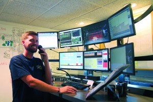 Lake Land College is offering a new short-term Public Safety Telecommunicator certificate this spring for people interested in the high-demand dispatching field. Pictured here is Gabriel Boedecker, 911 telecommunicator for Coles County Emergency Communications.