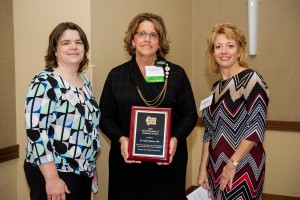 Pictured above Carle Farm Safety Specialist and IRHA Board of Directors member Amy Rademaker, Dr. Sally Salmons and IRHA Executive Director Margaret Vaughn